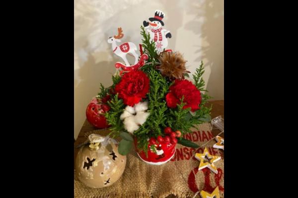 ~フラワーワークショップ~クリスマスアレンジメント